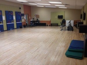 The ExerZone room at the Camelback Village Health Club & Spa after installation.